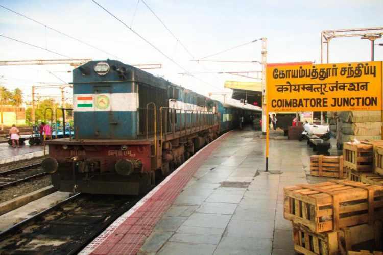 train service, coimbatore, pazhani, pollachi, new train service, southern railway, piyush goyal, coimbatore - pollachi, coimbatore - pazhani, salem- karur