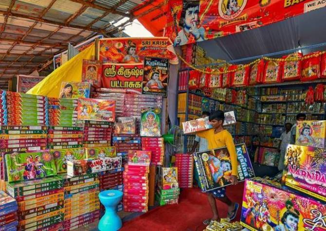 Diwali 2019 1000 temporary firecrackers shops