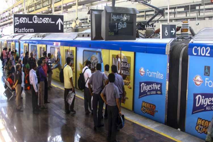 chennai, chennai metro, passengers, october, chennai metro rail