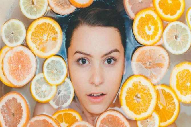 oily skin, oily face, lotion, sunscreen cream, sunlight, excess oil. orange, citrus taste, orange treatment