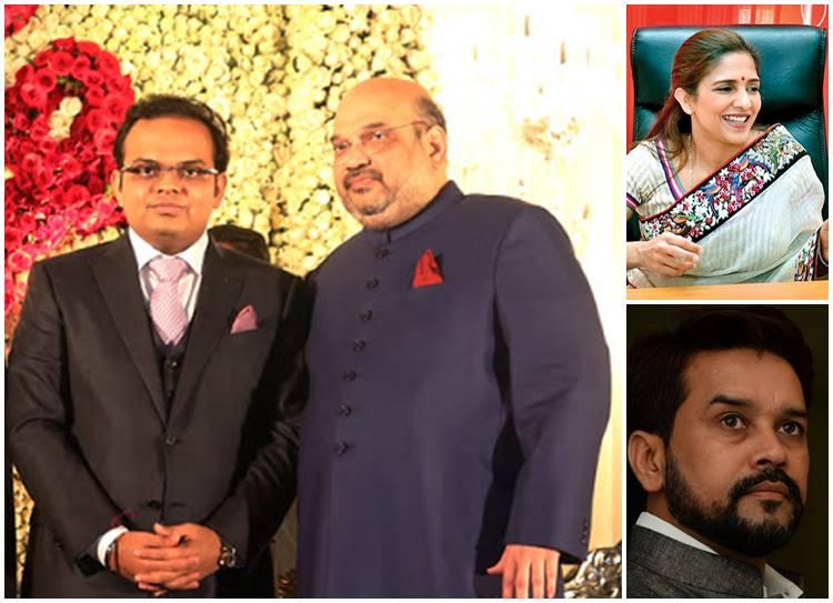 New cricket officialdom, Amit shah with his son Jay shah, Rupa Gurunath, Anurag thakur
