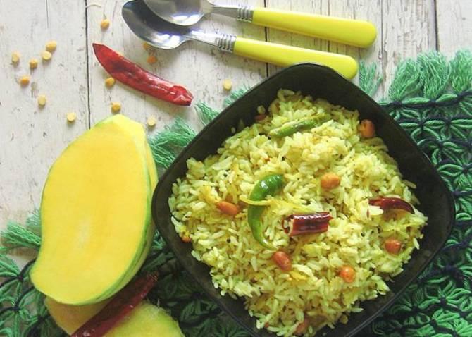 South Indian recipe Mango Rice Recipe in Tamil