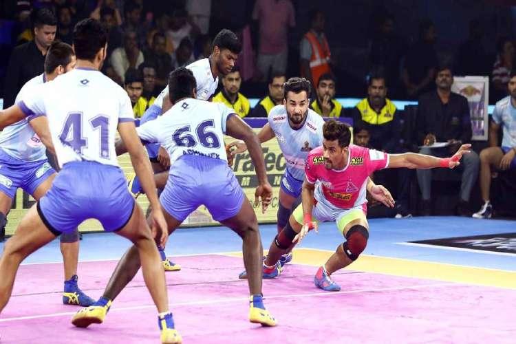 Tamil Thalaivas wins against jaipur pink panthers