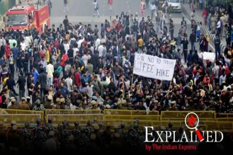 JNU fee hike students protest jnusu - மாணவர்கள் எதிர்ப்பு தெரிவிக்கும் ஜே.என்.யூ கட்டண உயர்வு என்ன?