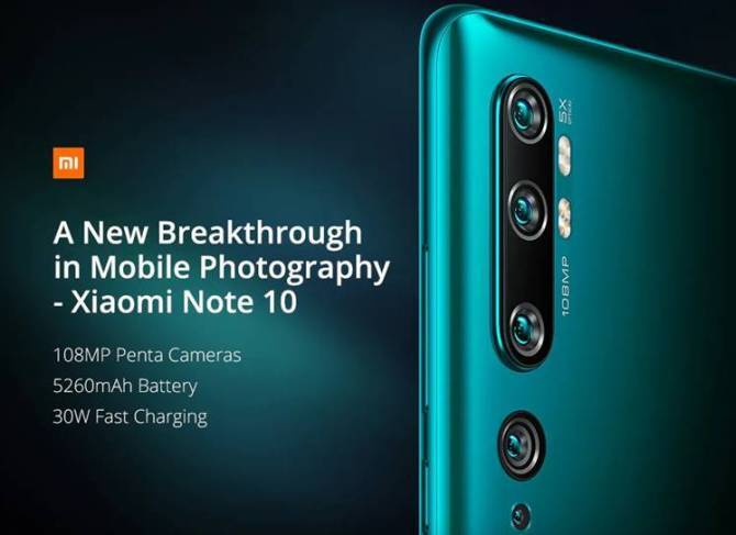 Xiaomi Mi Note 10 specifications, price, launch, availability