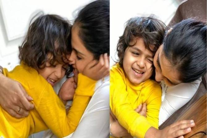 Genelia D'souza birthday wishes for riaan