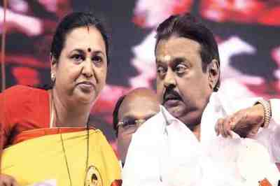 DMDK Premalatha, Premalatha says don't know who is that minister, minister bhaskaran critisize on Vijayakanth, பிரேமலதா விஜயகாந்த், மதுரை, விஜயாகாந்த்தை விமர்சித்த அமைச்சர், Premalatha questions on BJP government formation in Maharashtra, Premalatha Vijayakanth press meet in Madurai, DMDK, Minister Bhaskaran criticize Vijayakanth
