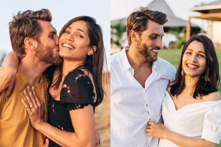 heroine Freida Pinto gets engaged to boyfriend Cory Tran - ரஹ்மானின் 'ஜெய் ஹோ' பாடல் நாயகிக்கு திருமண நிச்சயம் - காதலன் யாருன்னு தெரிஞ்சா ஷாக் ஆகிடுவீங்க!