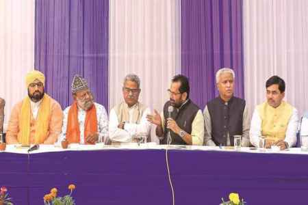 ayodhya verdict, rss, bjp leaders meet muslims, union minister mukhtar abbas naqvi, supreme court verdict on ayodhya dispute, ayodhya ram mandir, babri masjid, indian express