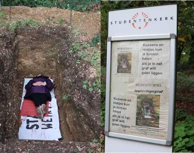 Trending news 'meditation grave' to deal with exam stress