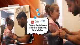 toddler steals classmates jacket, girl steal classmates toddler, toddler interrogated by father after stealing coat from school, தோழனின் கோட்டை வீட்டுக்கு எடுத்துவந்த சிறுமி, சிறிமியை விசாரிக்கும் தந்தை, வீடியோ வைரல், சிறுமி மிலா, girl mila, toddler mila, toddler bring home classmates coat, toddler videos, trending Tamil indian express news
