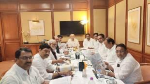 Maharashtra Government Formation Uddhav Thackeray sits with Congress