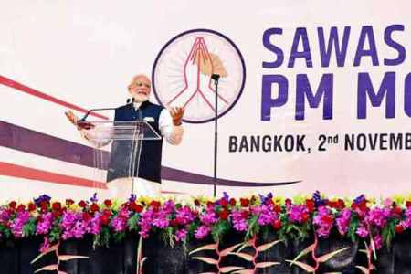 prime minister narendra modi, modi in bangkok, indo-thailand ties, north east india development, modi in thailand, asean meeting, indian express