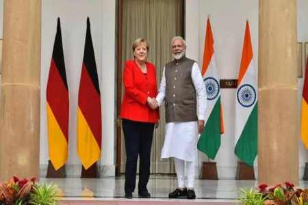 indo german consultations, india germany meeting, angela merkel visit to india, angela merkel meet modi, 5th indo-german inter-governmental consultations, indian express news