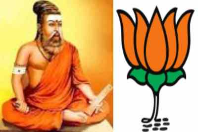 thiruvalluvar in saffron robes, BJP IT wing plan campaign, காவி உடையில் திருவள்ளுவர், திருவள்ளுவர், பாஜக, BJP plan to unveil the portrait of saint thiruvalluvar in saffron robes, bjp plan campaing into social media