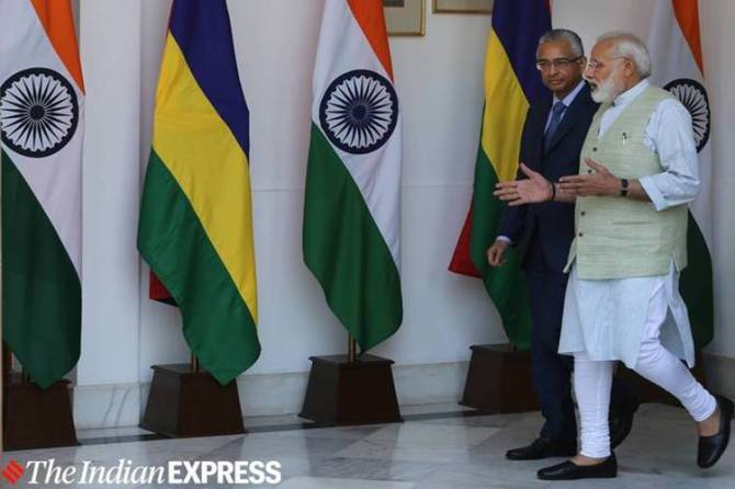 Prime Minister Narendr, a Modi, Mauritius counterpart Pravind Kumar Jugnauth