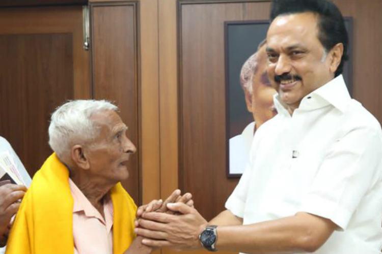 Narayanappa Meets DMK leader MK Stalin