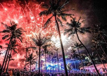 2020 New year party celebrations at Puducherry