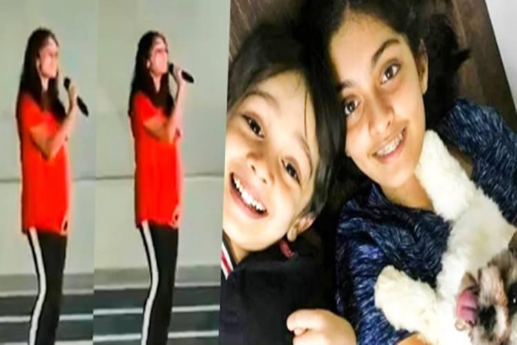 ajith daughter anoushka singing video - அஜித் மகள் மேடையில் பாடிய பாடல் என்ன? - வைரலாகும் வீடியோ