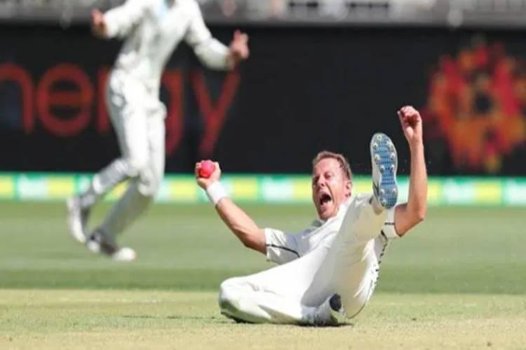 Neil Wagner pulls off one of the best 'caught & bowled' catches to dismiss David Warner - சிறந்த 'caught & bowled' விக்கெட் - அம்பயர் தீர்ப்பை எதிர்பார்க்காமல் வெளியேறிய வார்னர் (வீடியோ)