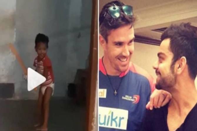 indian captain Virat Kohli impressed by 'unreal' talent recommended by Kevin Pietersen - டயப்பர் பையனுக்கு கோலியின் தயவால் இந்திய அணியில் இடம் கிடைக்குமா? அசர வைக்கும் பேட்டிங் (வீடியோ)