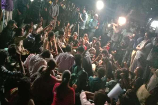 Students at Madras University Protest against the Citizenship Amendment Act