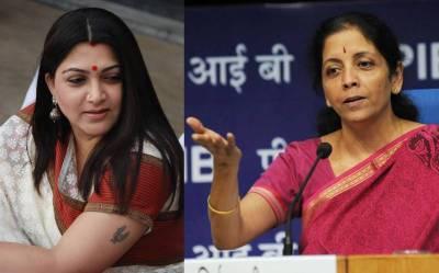 Nirmala Sitharaman blocked Kushbhu Sundar in Twitter