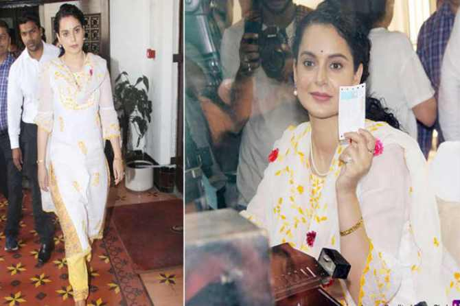 kangana Ranaut sells train ticket