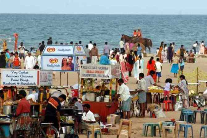 Chennai corporation statement, 900 cart shops set up at Marina, சென்னை மெரினா, கடற்கரை, சென்னை மாநகராட்சி அறிக்கை, 900 cart shops in Rs 27 crore at marina,madras high court, Chennai city corporation