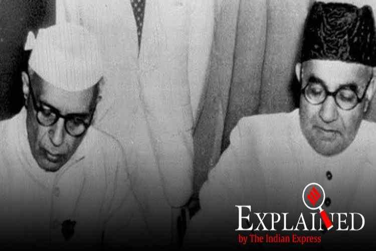 citizenship amendment bill, nehru-liaquat pact, nehru-liaquat 1950 pact, நேரு - லியாகத் 1950 உடன்படிக்கை, jawaharlal nehru, cab protests, amit shah, இந்தியா - பாகிஸ்தான் ஒப்பந்தம், டெல்லி ஒப்பந்தம், Tamil indian express, CAB, Jawaharlal Nehru and Liaquat Ali Khan, Pakistan PM Liaquat Ali Khan