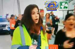 america, georgiya, tv live, broadcast, tv anchor, runners, misbehave, harass