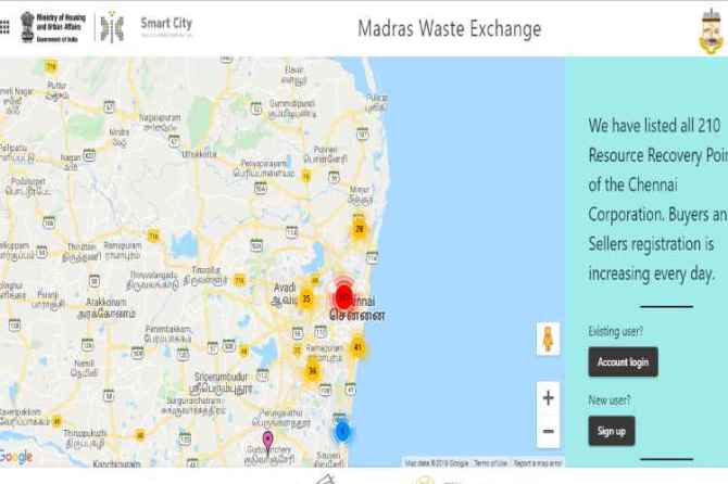 chennai, chennai corporation, waste management, sold waste, recycle, website, buyer, seller, manure, plastic wastes android app, corporation commissioner