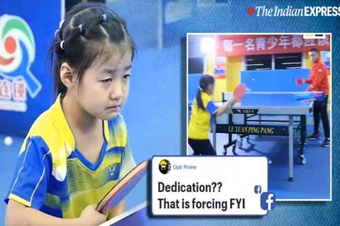 china, china training kids, child abuse, china child table tennis player, master table tennis, trending, indian express, indian express news