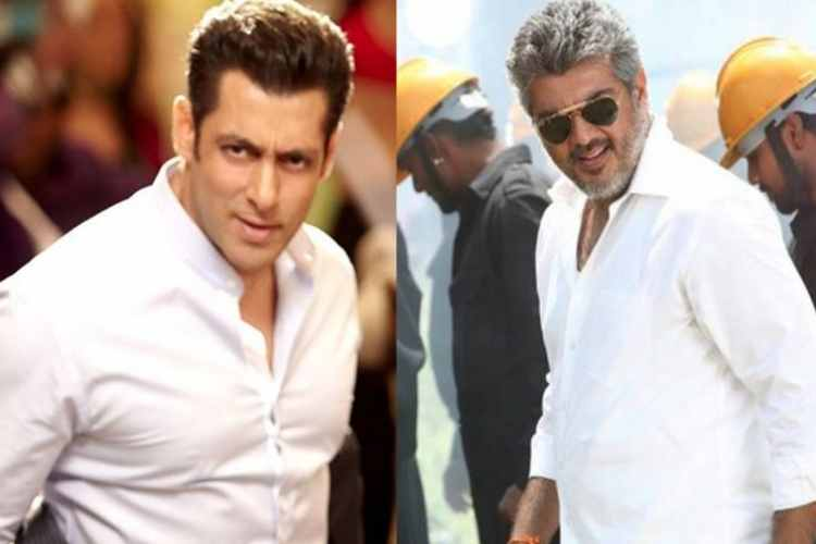 ajith kumar, salman khan, bollywood, zee tamil, imitate, ajith fans, video, viral