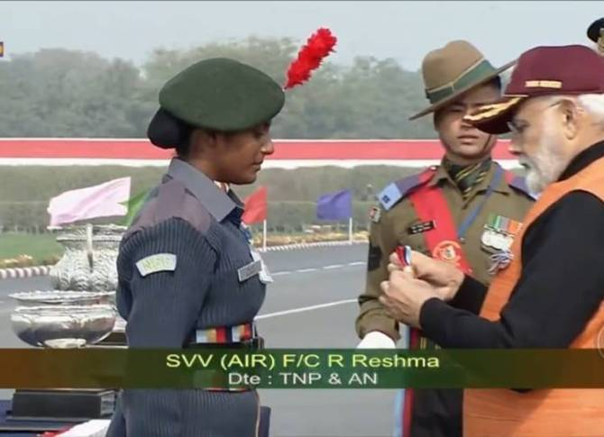 Flight Cadet R Reshma from Trichy strikes gold