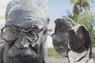 periyar statue vandalised, periyar statue vandalised near Chengalpattu, பெரியார் சிலை உடைப்பு, செங்கல்பட்டு அருகே பெரியார் சிலை உடைப்பு, periyar statue vandalised in tamil nadu, periyar statue vandalised in Kaliyapattai village, கலியப்பேட்டை, Periyar, Kaliyapattai village Periyar Silai Udaippu