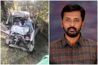 tirupur toi reporter dead in accident, திருப்பூர் கார் விபத்து, செய்தியாளர் ராஜசேகர் தாயுடன் பலி, tirupur toi reporter rajasekr dead in accident, toi reporter rajasekar, tirupur car accident