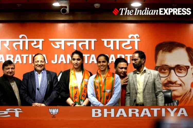 Saina Nehwal, Saina Nehwal joins BJP, சாய்னா நெஹ்வால், பேட்மிண்டன் வீராங்கனை, சாய்னா நெஹ்வால், பாஜகவில் இணைந்த சாய்னா நெஹ்வால், Former world number one badminton player Saina Nehwal, Saina Nehwal calls Narendra Modi an inspiration, bjp jp nadda, saina joins bjp, bjp, saina nehwal praise pm modi