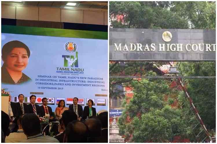Global Investors Meet, Global Investors Meet 2015, உலக முதலீட்டாளர்கள் மாநாடு, தமிழக அரசு, சென்னை உயர் நீதிமன்றம், Global Investors Meet 2019, Tamil Nadu govt produce statement in high court, madras high court, tamil nadu