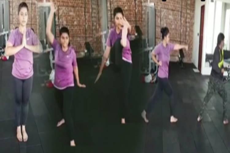 sneha adimurai practice video in pattas movie dhanush - பட்டாஸில் சினேகா எனர்ஜிக்கு இதுதான் காரணம் - ஒரு நடிகைக்கான பெஸ்ட் டெடிகேஷன் இதுதான் (வீடியோ)