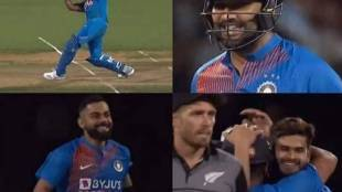 ind vs nz 3rd t20 super over rohit six video