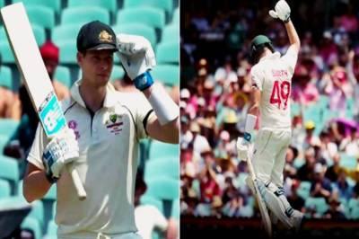 Steve Smith first single after 45 minutes aus vs nz 3rd test Melbourne cricket video - சிங்கிள் ரன்னுக்கே மூச்சு வாங்கிய சிங்கம்! என்னாச்சு ஸ்மித்? (வீடியோ)