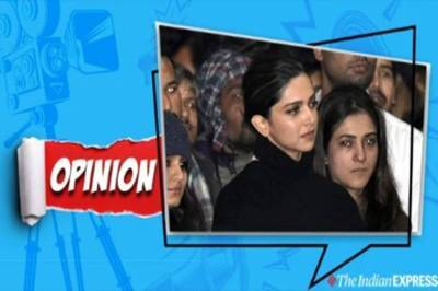Deepika at JNU Bollywood's women have shown far more spine than its 'heroes' - ஹீரோக்கள் என்ற வரையறையை மாற்றி எழுத வேண்டிய காலகட்டம்