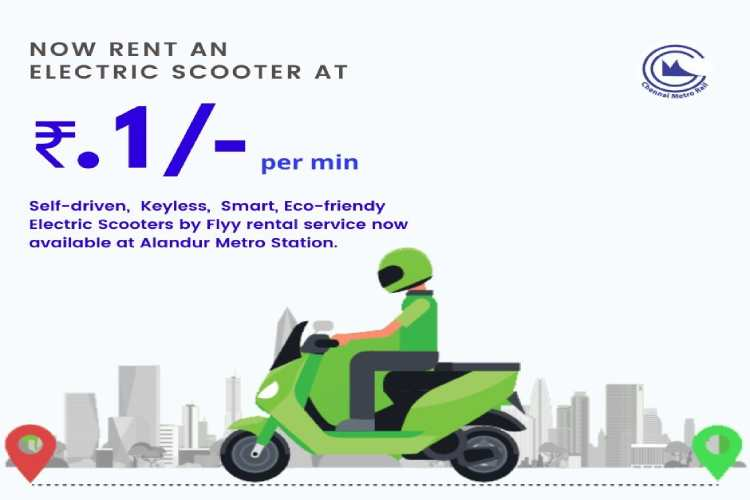 chennai metro electric vehicle, FLYY rental service app,FLYY app Service