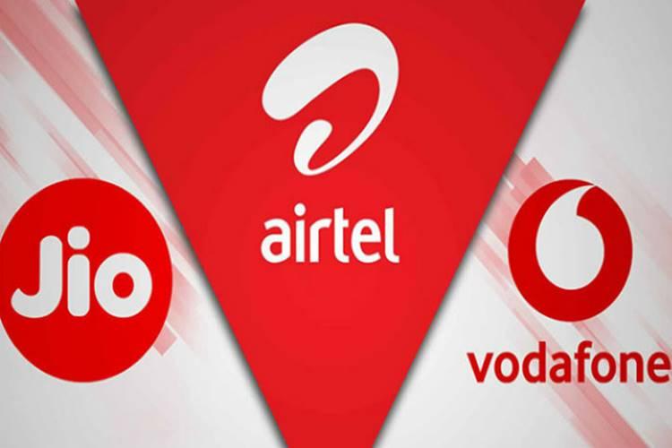 Jio vs Airtel vs Vodafone prepaid plans offer 2GB data