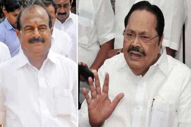 dmk, admk, minister karuppanan, duraimurugan, local body election, lesser fund, fund allotment, dmk controversial speech, dmk, complaint, governor banwarilal purohit,
