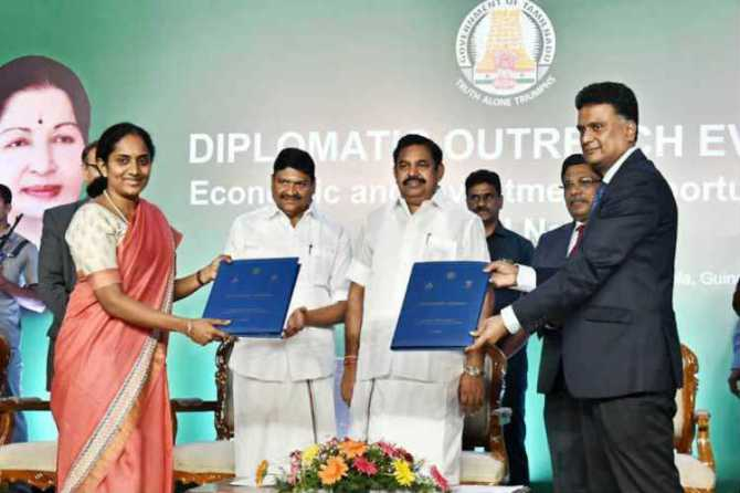 Edappadi Palaniswamy Signed for 3 foreign companies