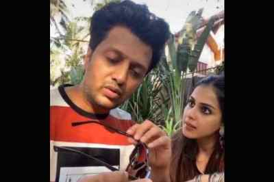 genelia and riteish deshmukhs, ஜெனிலியா வைரல் வீடியோ, viral video
