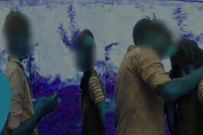 school student boy put chain to girl, school boy put chain to girl, school boy wearing chain to school girl, தாலிகட்டுவது போல பள்ளி மாணவிக்கு செயின் அணிவித்த மாணவன், வைரல் வீடியோ, நெல்லை, shocking viral video, boy wear chain to girl viral video, child protection unit inquiry, nellai, kalakkadu