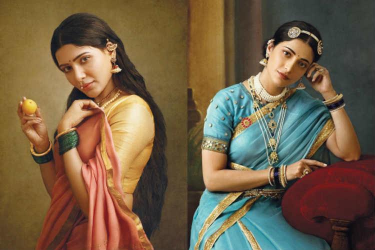 Raja Ravi Varman's Painting Recreation samantha Shruti haasan